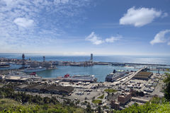 Spain. Barcelona. The top view on seaport. Stock Photo