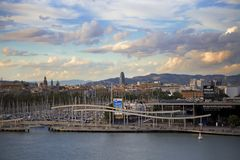 Spain, Barselona- November 20, 2013. Barcelona. View of the city. Spain, Barselona- November 20, 2013. Barcelona Beautiful view of the city Stock Images