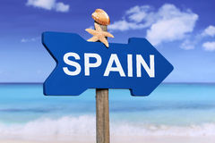 Spain with beach in summer on vacation Stock Image
