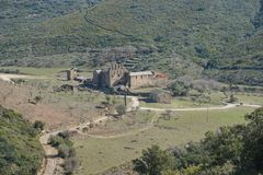 Spain monastery Sant Quirze de Colera Catalonia Royalty Free Stock Photography