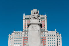 Spain Building in Madrid. Spain Building, one of the tallest buildings in Madrid, symbol of prosperity, located in Plaza de España Royalty Free Stock Photo