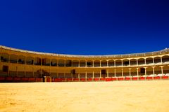 Spain bull arena. With strong colors Stock Photo