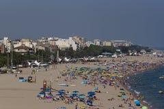 Spain, Calella. Mediterranean Royalty Free Stock Photos