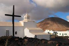 Spain, Canary Islands, Lanzarote, chapel. Stock Photo