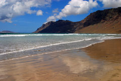 Spain Canary Islands, Lanzarote, Famara Beach. Stock Photos