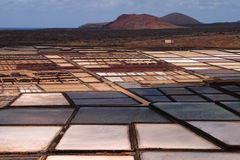 Spain Canary Islands, Lanzarote, Sea salt production. Royalty Free Stock Image
