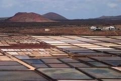 Spain Canary Islands, Lanzarote, Sea salt production. Royalty Free Stock Photo