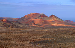Spain, Canary Islands, Lanzarote, volcano crater. Stock Image
