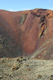 Spain, Canary Islands, Lanzarote, volcano crater. Royalty Free Stock Images