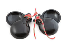 Spain castanets. Object on white - Spain castanets close up stock photography