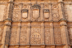Spain, Castilla y Leon, Salamanca. Historical centre. Spain, Castilla y Leon, Salamanca. Detail of a baroque facade. The ancient university city is a UNESCO royalty free stock photography