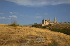 Spain castle. Beautiful castle in spain segovia Royalty Free Stock Images
