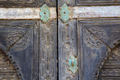 Spain castle lock  knocker lanzarote abstract door wood Royalty Free Stock Photo
