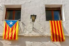 spain catalan flagga Arkivbild
