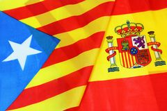 Spain and Catalan Flah Royalty Free Stock Images