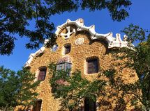 House designed by architect Gaudi royalty free stock photos