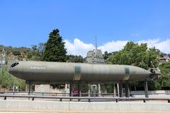 spain catalonia Barcelona Monumento - uma Barcelona submarina imagens de stock royalty free
