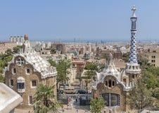 Spain, Catalonia, Barcelona. Parc Guel Royalty Free Stock Photos