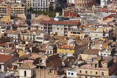 Spain. Catalonia. Girona. Old city center buildings. Royalty Free Stock Images