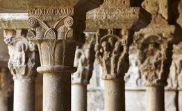 Spain. Catalonia. Girona. Romanesque capitals. Sta. Maria Cathed Stock Photography