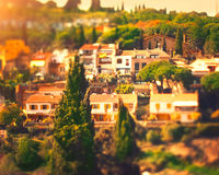 Spain, Catalonia. Old mediterranean towns Stock Photos