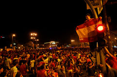 Spain celebrating victory Stock Images