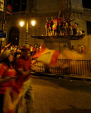 Spain celebrating victory Royalty Free Stock Images