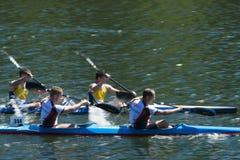 Spain Championship Canoe Marathon Stock Photo