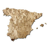 Spain chipboard map Royalty Free Stock Photography