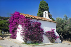 Spain church near village Royalty Free Stock Image