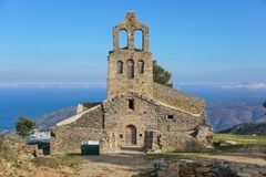 Spain church Santa Helena Catalonia Costa Brava Royalty Free Stock Photo