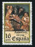 Christmas. SPAIN - CIRCA 1983: stamp printed by Spain, shows Christmas, circa 1983 stock photo