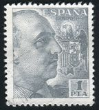 Francisco Franco printed by Spain. SPAIN - CIRCA 1938: stamp printed by Spain, shows Francisco Franco, circa 1938 Stock Image