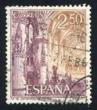 Interior in Cathedral of Burgos. SPAIN - CIRCA 1965: stamp printed by Spain, shows Interior in Cathedral of Burgos, circa 1965 Royalty Free Stock Photography