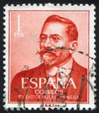 Stamp printed by Spain. SPAIN - CIRCA 1961: stamp printed by Spain, shows Juan Vazquez de Mella, circa 1961 Royalty Free Stock Photo