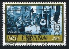 Pablo Ruiz Picasso. SPAIN - CIRCA 1978: stamp printed by Spain, shows The Meninas Pablo Ruiz Picasso, circa 1978 stock photography