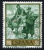Man and Woman from La Mancha. SPAIN - CIRCA 1964: stamp printed by Spain, shows picture of Man and Woman from La Mancha, circa 1964 Stock Photos