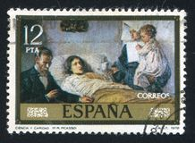 Pablo Ruiz Picasso. SPAIN - CIRCA 1978: stamp printed by Spain, shows Science and Charity Pablo Ruiz Picasso, circa 1978 royalty free stock photography