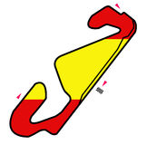 Spain circuit: Formula 1. Illustration of the circuit of Barcelona, official race of Spain for Formula 1, Moto Gp and other races Stock Photos