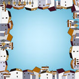 01 Spain City pattern. Vector illustration of abstract town landscape image Royalty Free Stock Image