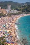 Spain coast. Lloret del mar Stock Image
