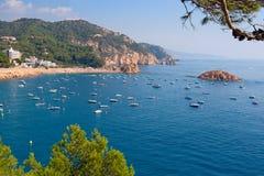 Spain coast. Costa Brava landscape near Tossa. Catalonia, Spain Stock Images