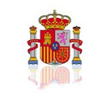 Spain coat of arms. Illustration with a spain coat of arms on white background Royalty Free Stock Photo