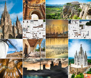 Spain collage Stock Image