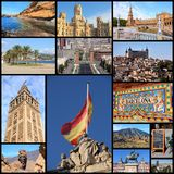 Spain collage Royalty Free Stock Photo