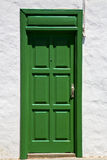 Spain   of colorated  door in lanzarote Royalty Free Stock Photography