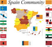 Spain Community. Stock Images