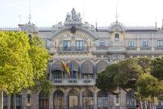 spain Construção da autoridade portuária de Barcelona imagens de stock royalty free