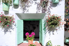 Spain Cordoba The Patios. Spain Cordoba In May all the flowery courtyard of Cordoba participates in a contest royalty free stock photos