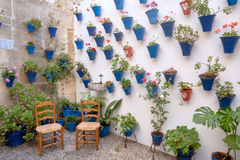 Spain Cordoba The Patios. Spain Cordoba In May all the flowery courtyard of Cordoba participates in a contest stock image